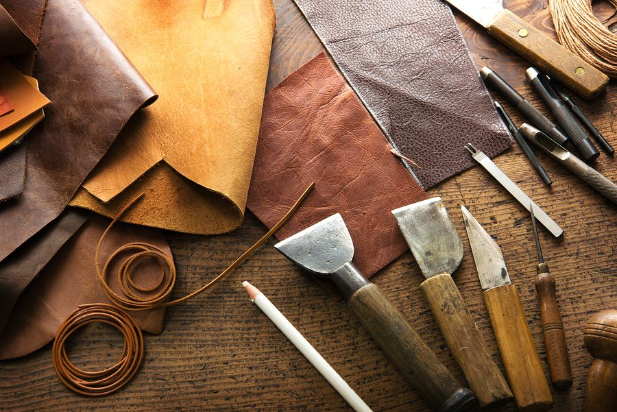 The making of leather bags